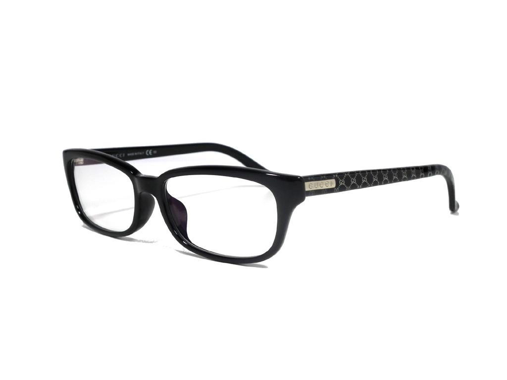 未使用 グッチ メガネ めがね フレーム 眼鏡 GG メガネフレーム ブラック 黒 細身 GG9094 メンズ レディース GUCCI だてメガネ 伊達メガネ 【中古】
