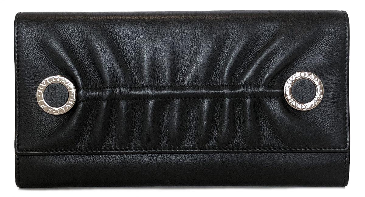 87fadcaced2e ブルガリ 長財布 三つ折り 財布 ブラック 黒 レザー ブルガリブルガリ メンズ レディース 本革 BVLGARI