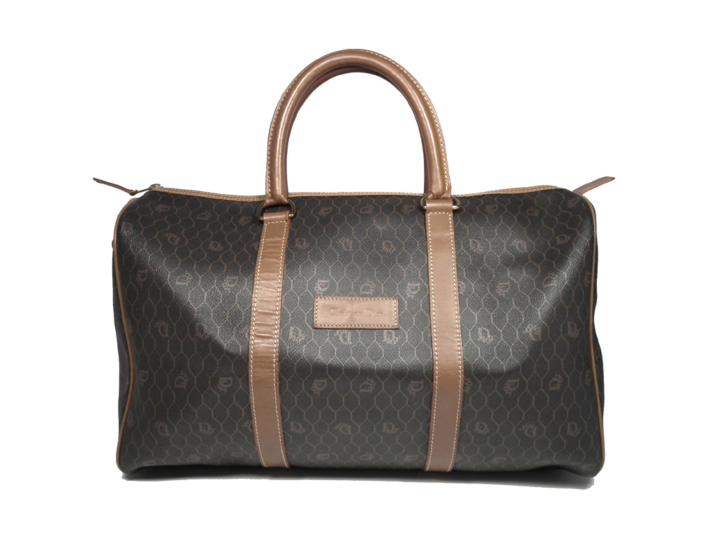 078d77369985d PVC leather men gap Dis man and woman combined use Boston vintage Christian  Dior whole pattern for the Christian Dior Boston bag trip