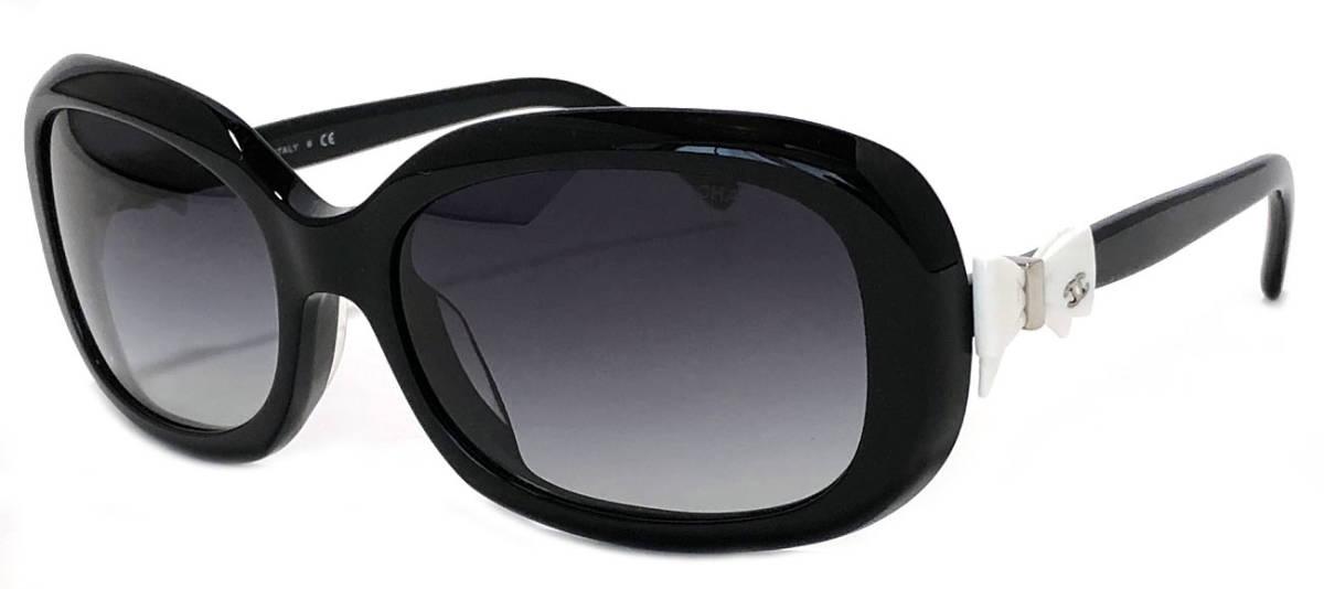 シャネル サングラス ブラック 黒 リボン ココマーク 5170 CHANEL カチューシャ レディース 【中古】