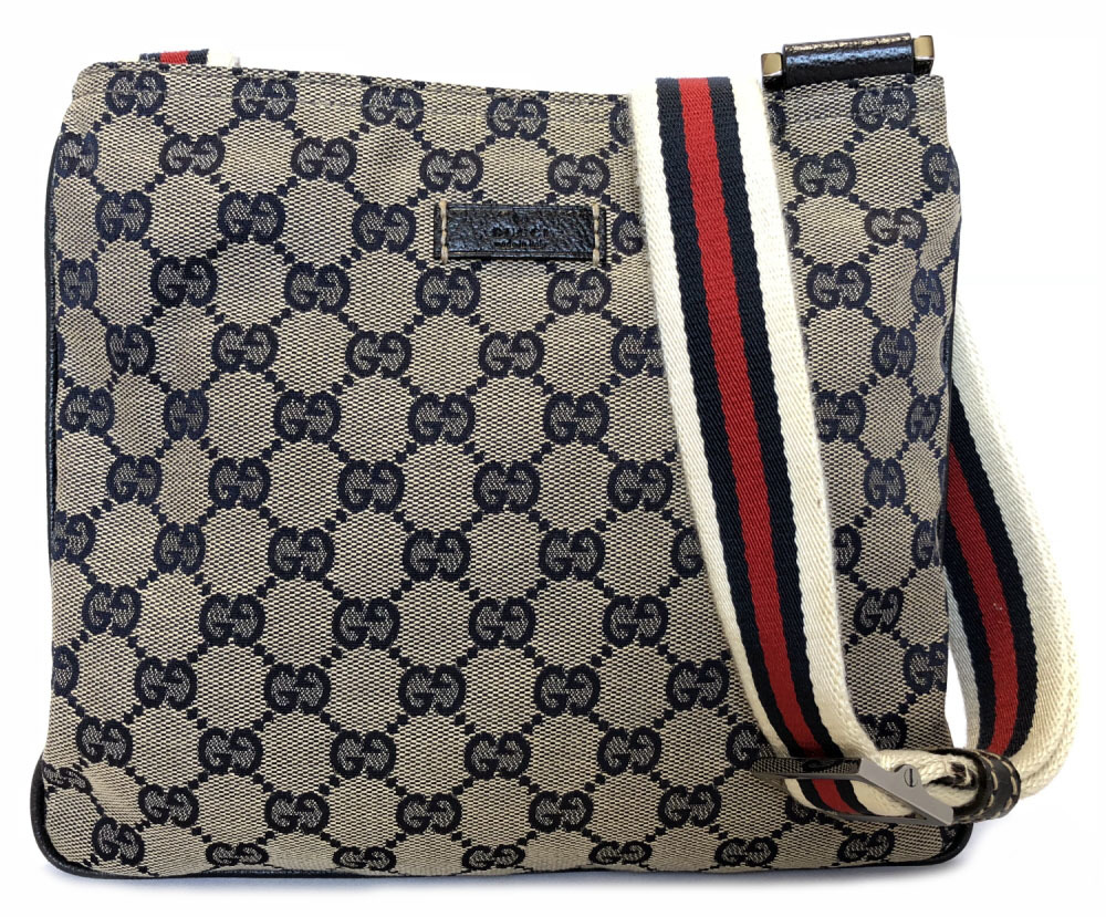 f2c5018de674 Take Gucci shoulder bag slant, and hang GG GG canvas navy men gap Dis  sherry ...