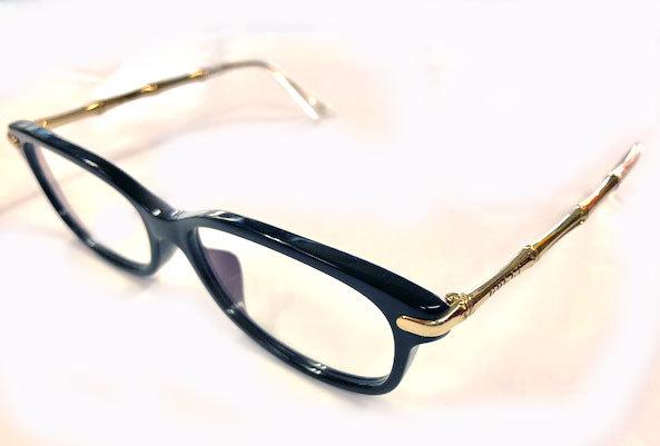 f167d1ca7a1 Like-new Gucci glasses glasses glasses frame bamboo glasses frame GG3801  black gold metal bamboo Date glasses glasses for show