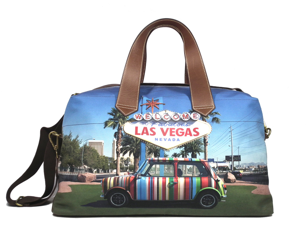 93de8106e ... Paul Smith 2WAY Boston bag Mini Cooper car print multicolored Boston  men gap Dis traveling bag ...