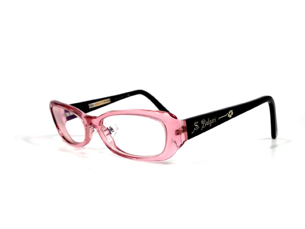 美品 ブルガリ 眼鏡 メガネ フレーム ソティリオ 4027 メンズ レディース S.BVLGARI 伊達メガネ メガネフレーム ピンク  【中古】