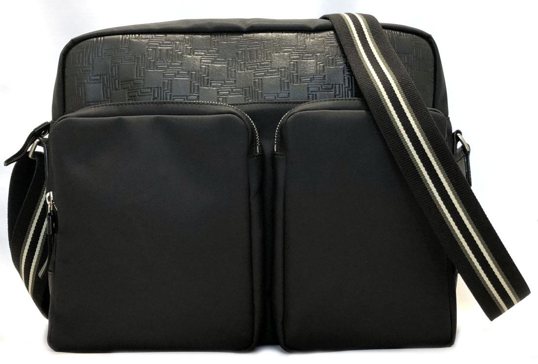 6ca3e35b48a236 Take Dunhill shoulder bag D eight black A4 messenger black men nylon  leather DUNHILL slant; ...