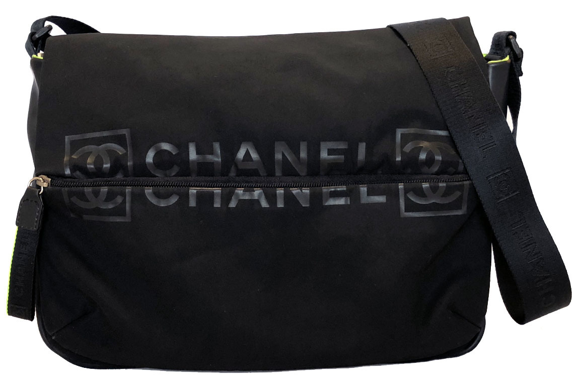 49a213353bd505 Take Chanel sports line slant; shoulder shoulder bag here mark men black  fluorescence messenger CHANEL ...
