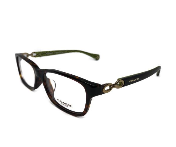 未使用 コーチ メガネ フレーム メガネフレーム めがね 眼鏡 べっ甲柄 細身 シグネチャー COACH 5232 チェーン レディース  【中古】
