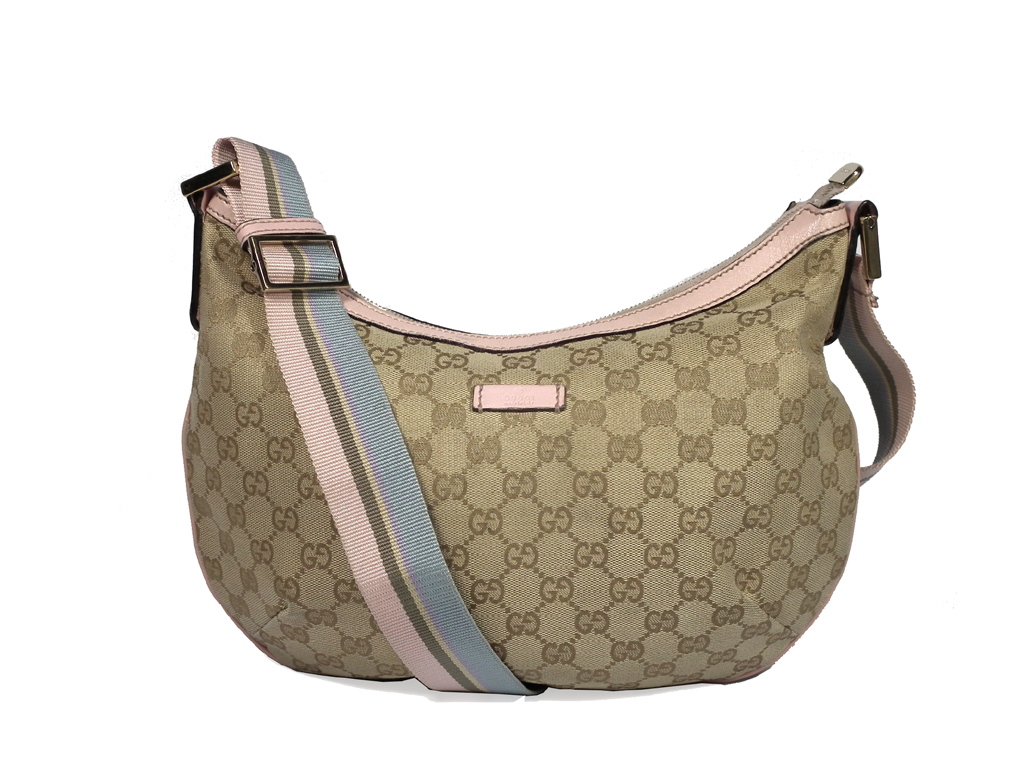 a216fc1756f5 Take Gucci shoulder bag GG canvas 181092 slant; beige GG pink light blue  light blue ...