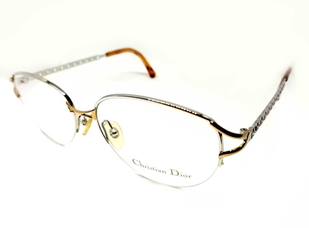 未使用 クリスチャンディオール メガネ レディース メガネフレーム ディオール シルバー ゴールド めがね 眼鏡 フレーム Dior めがねフレーム 眼鏡フレーム CD 【中古】