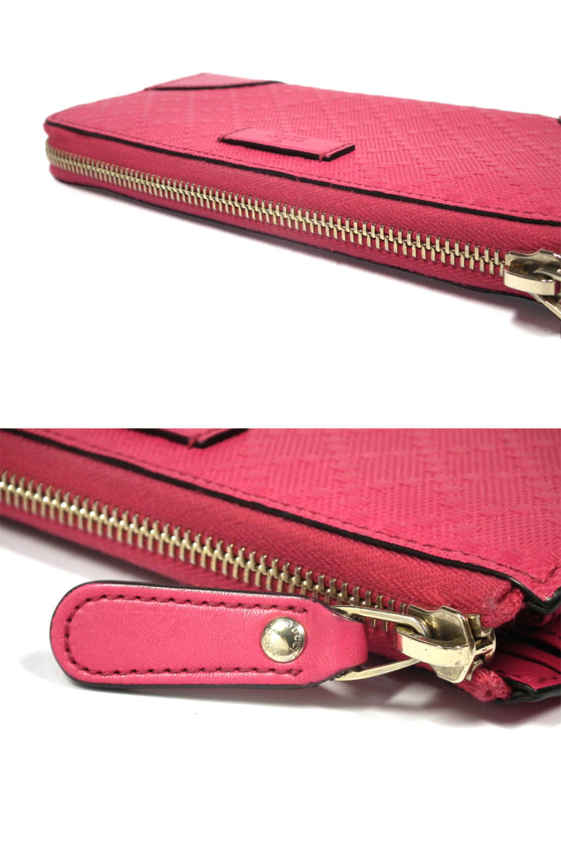 d4403151d ... Good Gucci Diamante long wallet Lady's leather pink 354488 zip around  long wallet wallet genuine leather ...