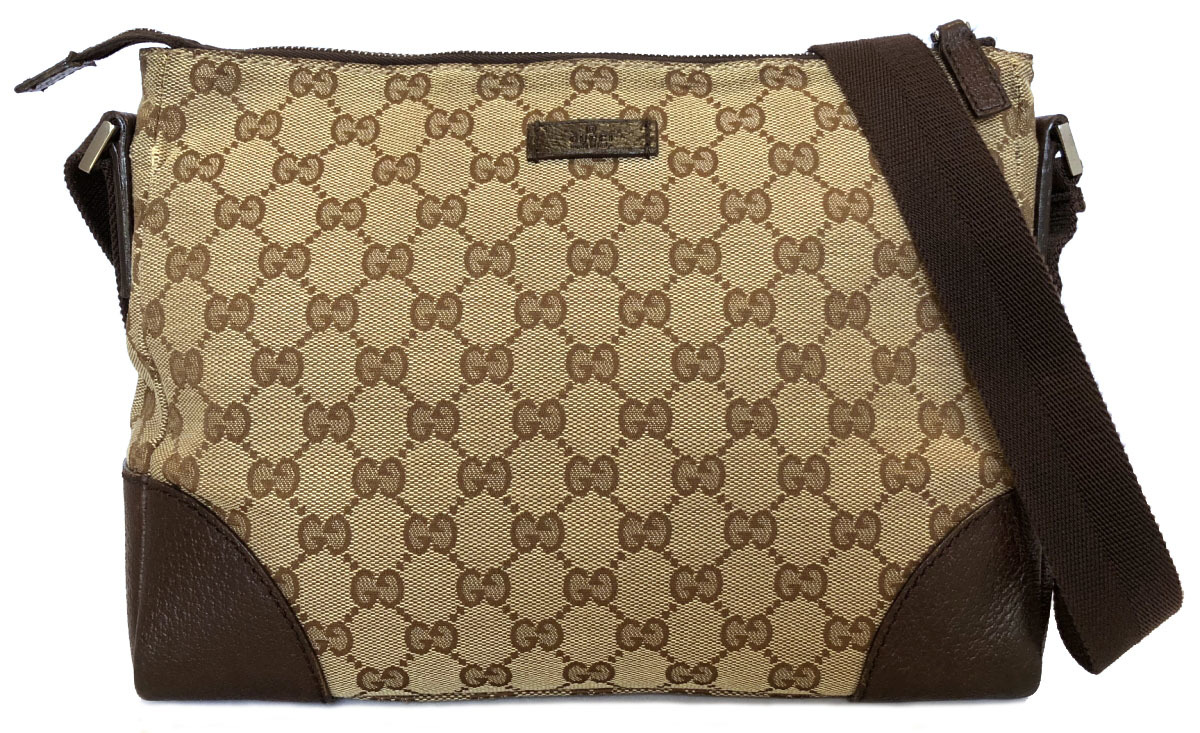 2d58262527d7 Take Gucci slant, and take shoulder bag GG GG canvas beige messenger men  gap Dis ...