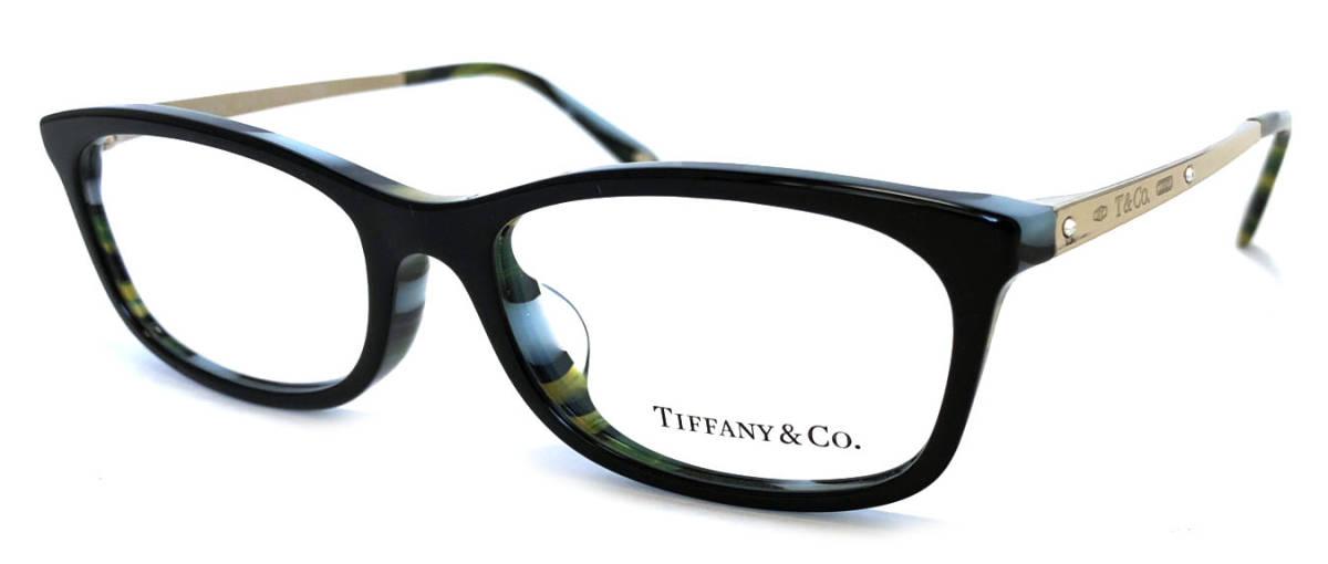 未使用 ティファニー メガネ 眼鏡 メガネフレーム 1837 ゴールド ブラック 黒 めがね ラインストーン T&CO TIFFANY レディース 眼鏡フレーム めがねフレーム TF2131 【中古】