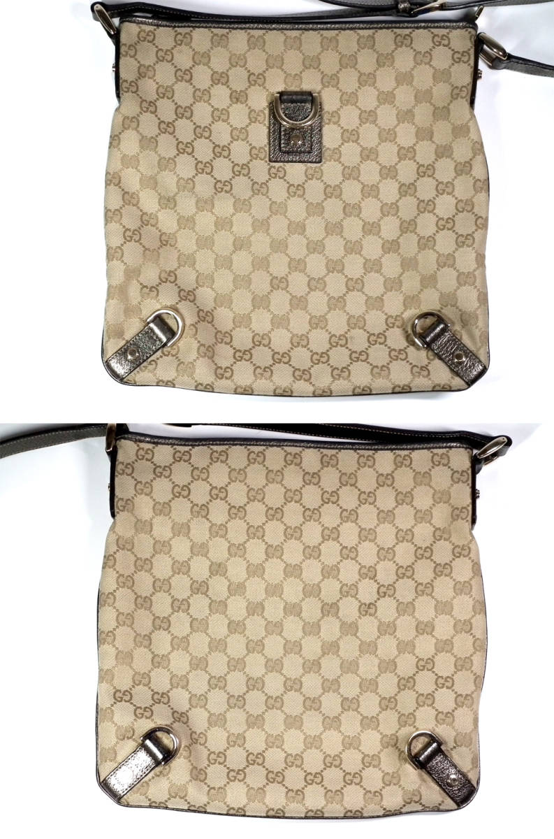 ec056d6681db ... Take Gucci GG canvas slant; shoulder bag 131326 beige GG pattern GUCCI  Lady's men GG ...