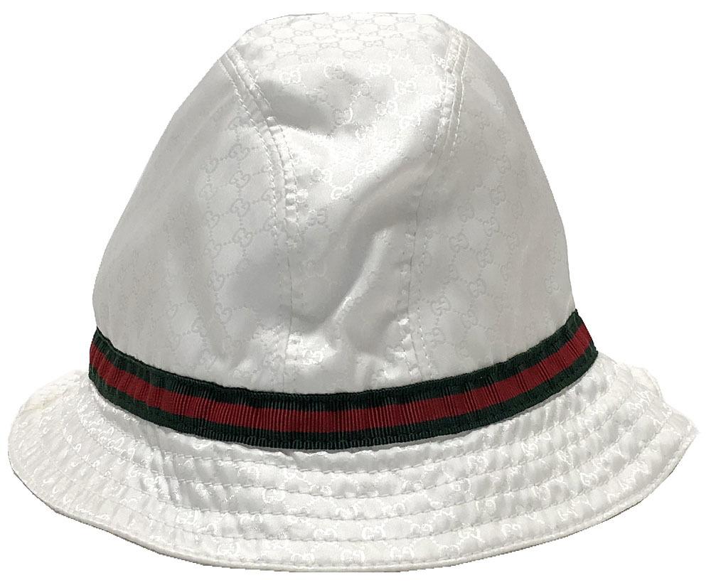 7b610196df4 Sherry white white micro GG Boys girls for the Gucci kids hat hat GG nylon  GUCCI child