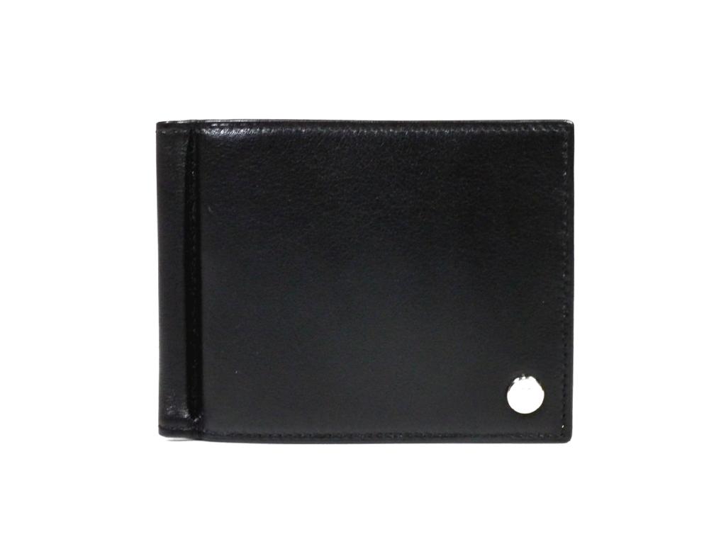 未使用 IWC 二つ折り 財布 レザー マネークリップ付き 札入 ブラック 黒 アイダブリューシー メンズ 紳士用 【中古】