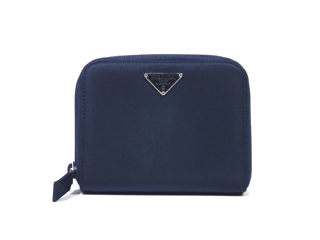 b31d2ddc320856 Nylon canvas with the like-new Prada wallet round fastener navy M605 zip  around dark ...