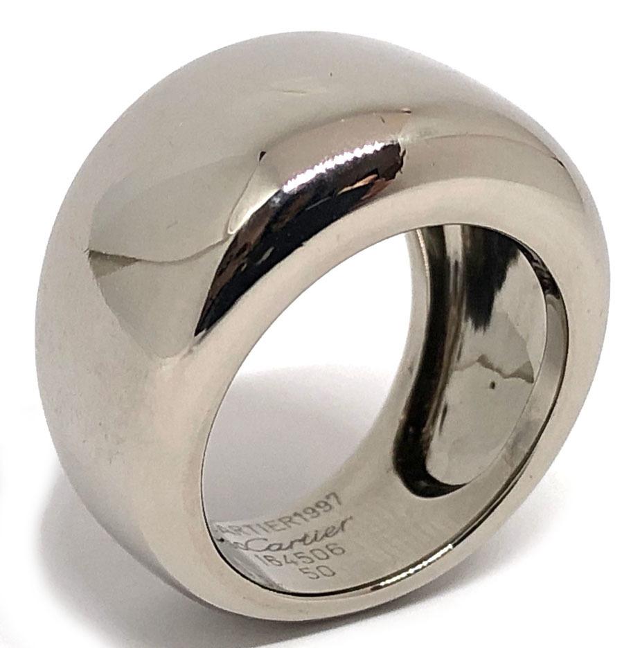 カルティエ 指輪 ヌーベルバーグ リング 50 10号 K18WG ホワイトゴールド ヌーベルバーグリング レディース Cartier CARTIER アクセサリー 【中古】