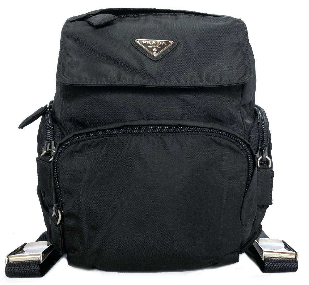e0185041f2 Rucksack light weight triangle plate with Prada rucksack nylon backpack mini  ruck B5915 black black Lady s PRADA NERO ZAINO card