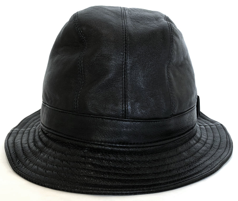 e2233903e3ba0 Gucci hat hat leather black black logo GUCCI Lady s men genuine leather oar  leather man and woman combined use beauty product