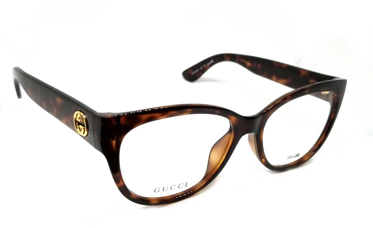 5e0de7dd721 Unused Gucci glasses frame glasses glasses frame glasses glasses Date  glasses GG Lady s tortoiseshell pattern GUCCI for show