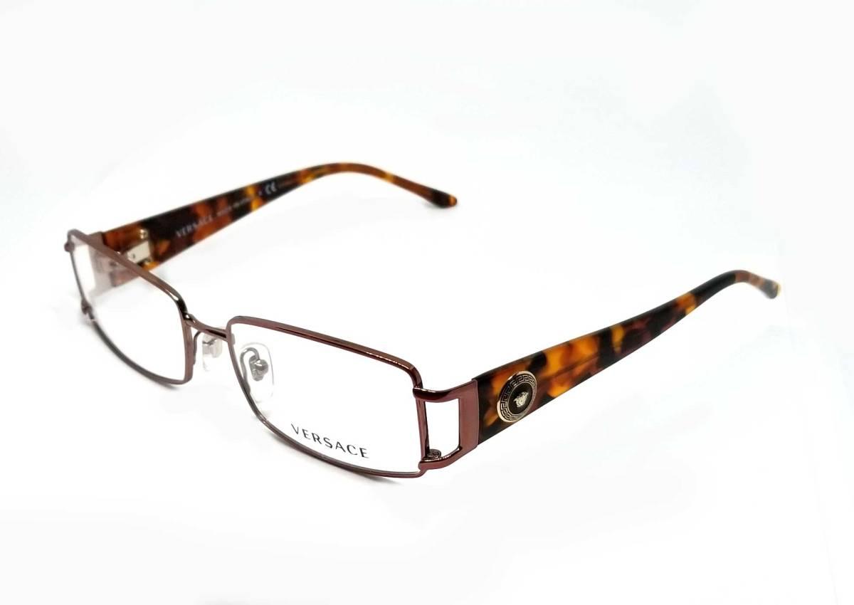 未使用 ヴェルサーチ メガネフレーム メガネ めがね フレーム 眼鏡 だてメガネ 伊達メガネ メデューサ レディース べっ甲柄 VERSACE  【中古】