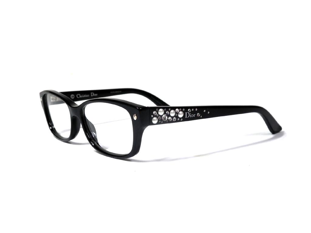 5aaf9c7ee309 Christian Dior Dior glasses glasses frame glasses glasses frame black black  stone plastic glasses Date glasses Lady s Christian Dior for show