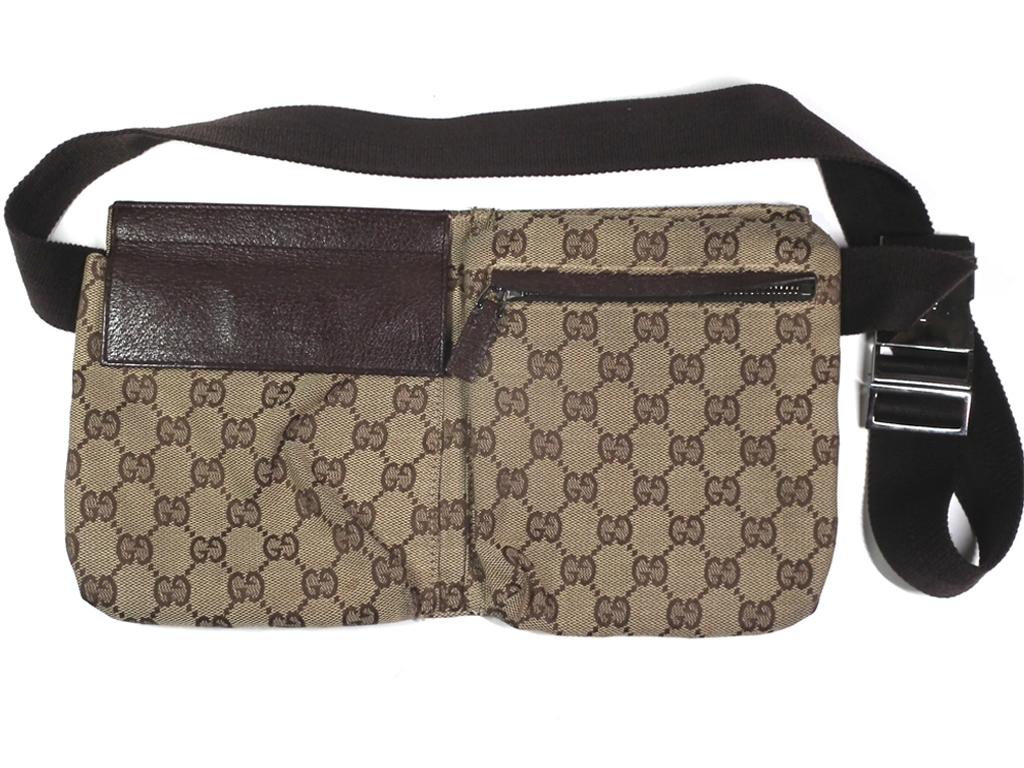 12c71b47184110 Gucci bum-bag belt bag body bag GG canvas 28566 men's lady's beige brown  man ...