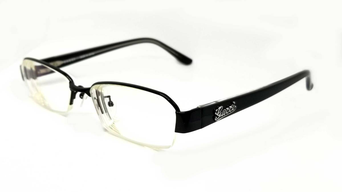 fdf456385a3 Gucci glasses black half rim glasses frame glasses GG glasses frame black  men gap Dis on the small side GUCCI Date glasses logo glasses frame glasses  frame