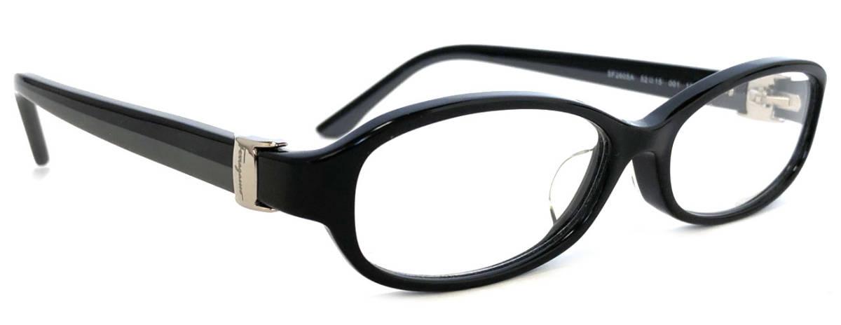 フェラガモ メガネ ブラック めがね フレーム 眼鏡 ヴァラ リボン メガネフレーム バラ 黒 グレー レディース 細身 伊達メガネ めがねフレーム 眼鏡フレーム FERRAGAMO 【中古】