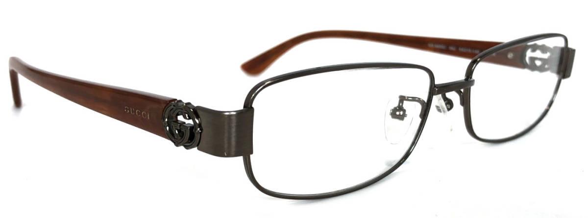 グッチ メガネ めがね フレーム 眼鏡 GG メガネフレーム ダブルG ブラウン メンズ レディース GG9650 GUCCI 伊達メガネ めがねフレーム 眼鏡フレーム 【中古】