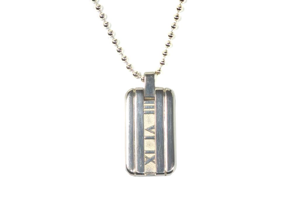 fcb045391 Tiffany atlas tag necklace pendant silver 50cm ball chain men gap Dis SV925  TIFFANY beauty product ...
