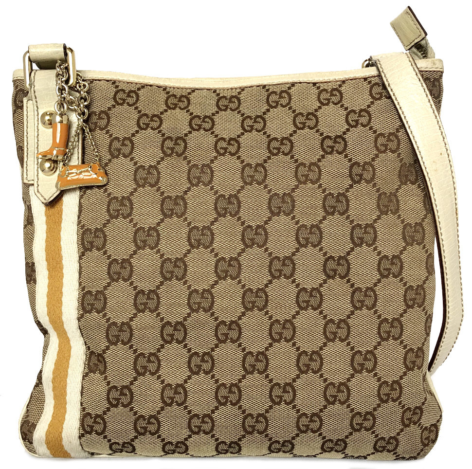 48929f597aba Take Gucci shoulder bag GG canvas 144388 slant, and take boots charm bag  charm slant; shoulder Lady's GG pattern GUCCI