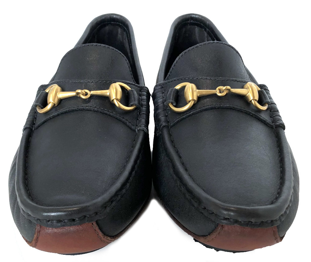 75fceae7c91d ... 7 Gucci shoes leather hose bit loafer driving shoes brown black black  gold metal fittings business ...