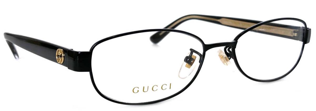 未使用 グッチ 眼鏡 メガネフレーム メガネ フレーム めがね GG0129 ブラック 黒 GG メンズ レディース GUCCI 伊達メガネ チタン チタニウム 眼鏡フレーム めがねフレーム 【中古】