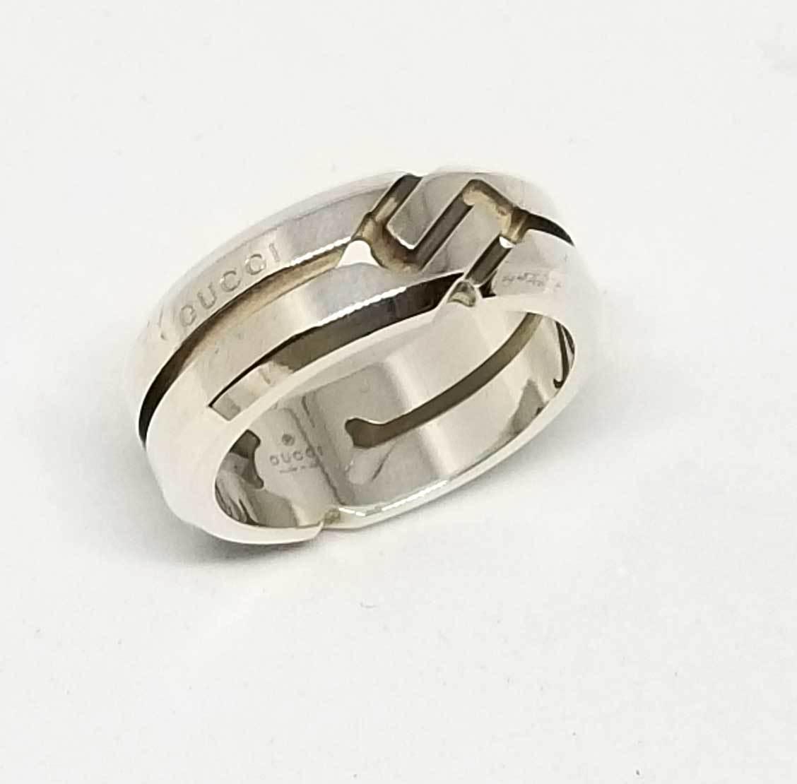 グッチ ノットリング 指輪 シルバー リング 13 約12号 レディース メンズ シルバー925 GUCCI 【中古】