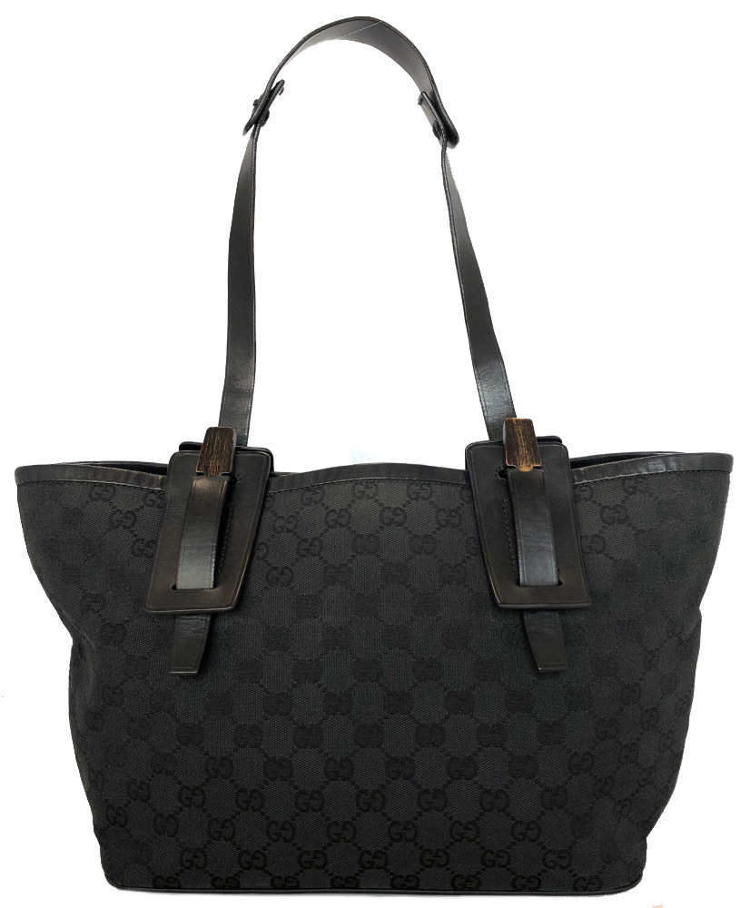 af2612a4185 Gucci shoulder bag one shoulder GG pattern GG canvas black black 106241  Lady s GG tote bag GUCCI