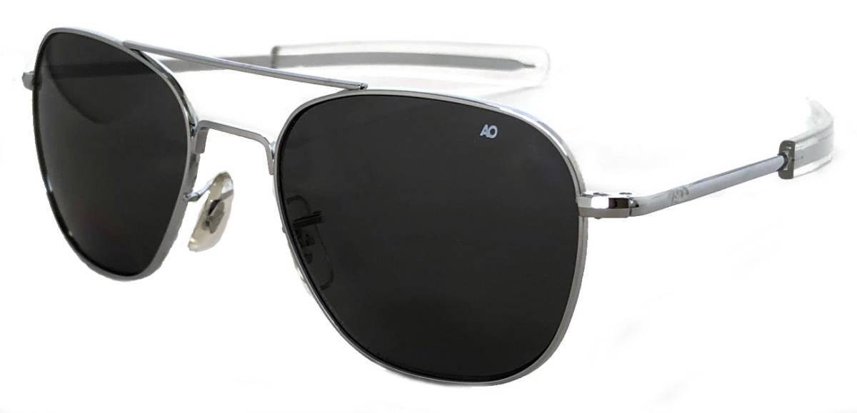 新品同様 アメリカンオプティカル サングラス オリジナル パイロット AO シルバー ブラック American Optical AO eyewear original pilotメンズ 紳士用 【中古】