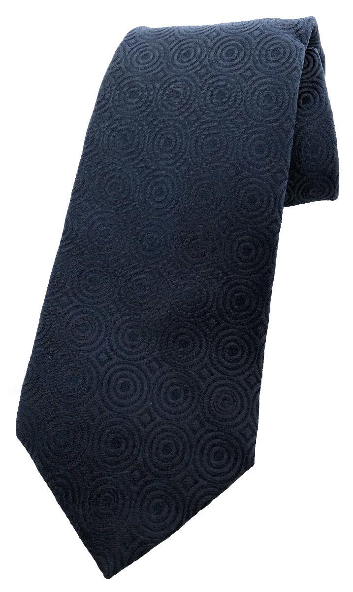 グッチ ネクタイ Gマーク ネイビー ブルー 紺 シルク 100% メンズ GUCCI シルクネクタイ 紋章 紳士用 【中古】