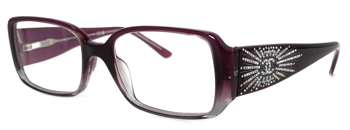 シャネル 眼鏡 メガネ 3115 ラインストーン 眼鏡フレーム ココマーク パープル系 紫 レディース CHANEL 伊達メガネ. めがねフレーム メガネフレーム 【中古】