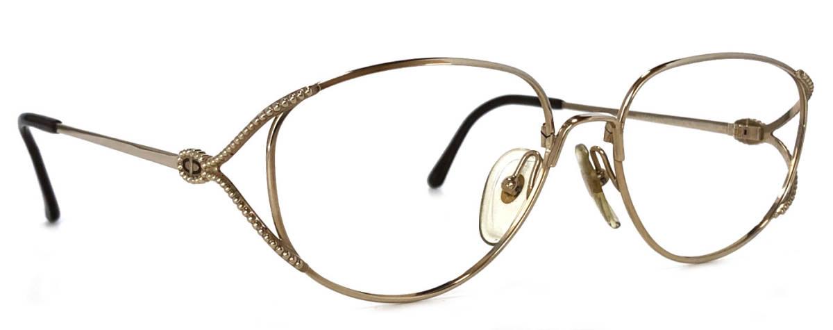 クリスチャンディオール メガネ レディース メガネフレーム ディオール ゴールド 2712 めがね 眼鏡 フレーム Dior めがねフレーム 眼鏡フレーム CD Christian Dior 【中古】