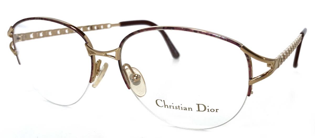 未使用 クリスチャンディオール メガネ レディース メガネフレーム ディオール ゴールド めがね 眼鏡 フレーム Dior めがねフレーム 眼鏡フレーム CD CD2046 Christian Dior 【中古】