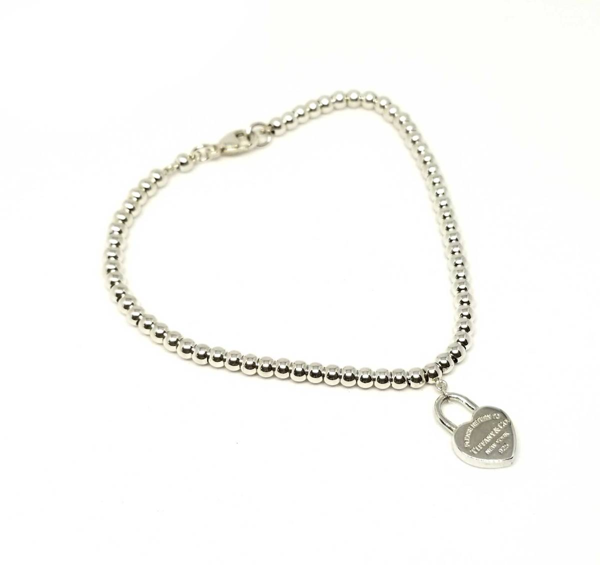 03c436738 Tiffany return toe Tiffany heart beads bracelet heart tag Lady's silver  SV925 silver 925 accessories beauty ...