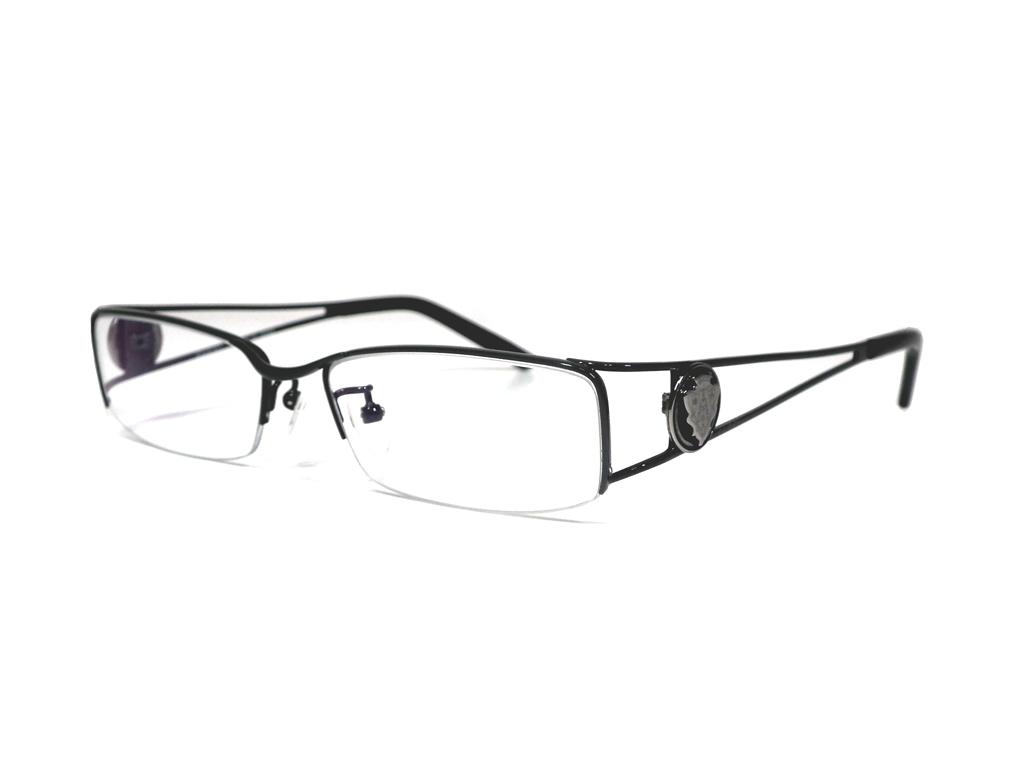 新品同様 グッチ メガネ 眼鏡フレーム GG-9643J チタン クレスト ハーフリム グレー 男女兼用 伊達眼鏡 メガネフレーム GUCCI 【中古】