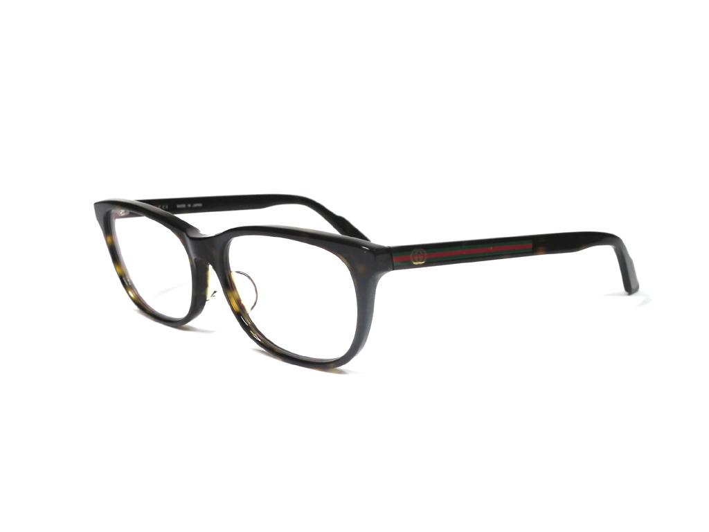 グッチ メガネ めがね フレーム 眼鏡 GG メガネフレーム GG9066 ブラック 黒 メンズ レディース 細身 GUCCI 伊達メガネ シェリー めがねフレーム 眼鏡フレーム 【中古】