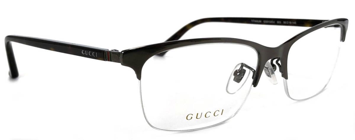 4bda50f52d340 Unused Gucci glasses half rim glasses frame glasses logo glasses frame  titanium Date glasses glasses frame glasses frame GG1320 TITANIUM titanium  men gap ...