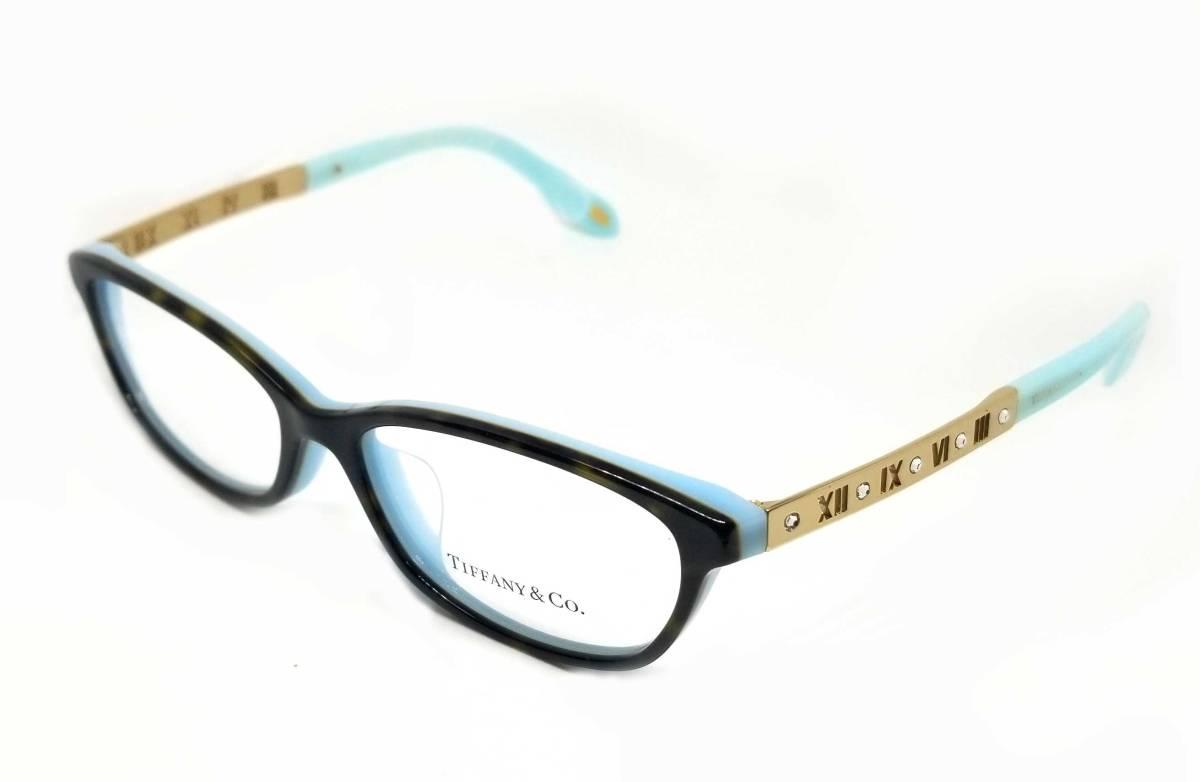 未使用 ティファニー メガネ 眼鏡 めがね フレーム ゴールド アトラス ラインストーン レディース ブルー メガネフレーム TIFFANY めがねフレーム 眼鏡フレーム 【中古】