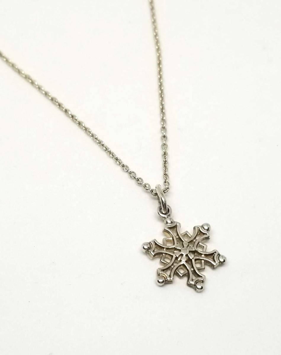0c73c78ea Crystal SV925 pendant silver Lady's TIFFANY of the beautiful article Tiffany  necklace snowflake snow ...