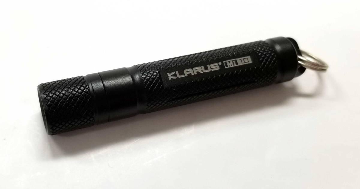 新品同様 KLARUS LED フラッシュライト Miシリーズ Mi10 クラルス ライト ミニ ブラック 黒 軽量 長時間 【中古】