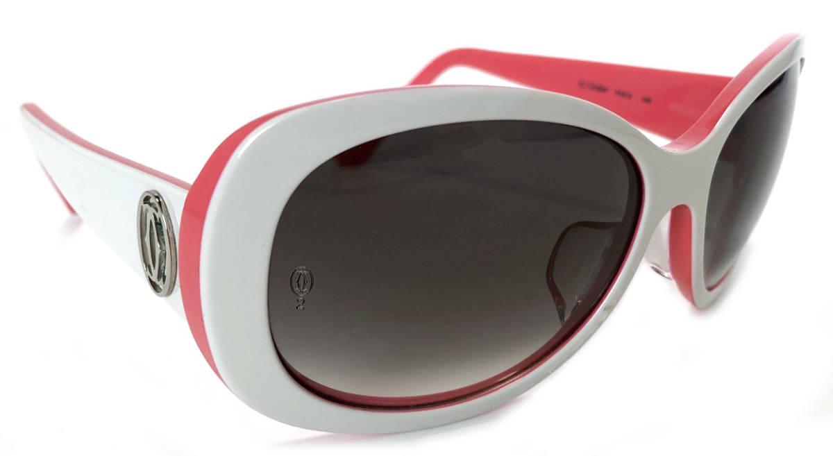 新品同様 カルティエ サングラス C2 ロゴ ピンク ホワイト 2C レディース 女性用 カチューシャ Cartier CARTIER 【中古】