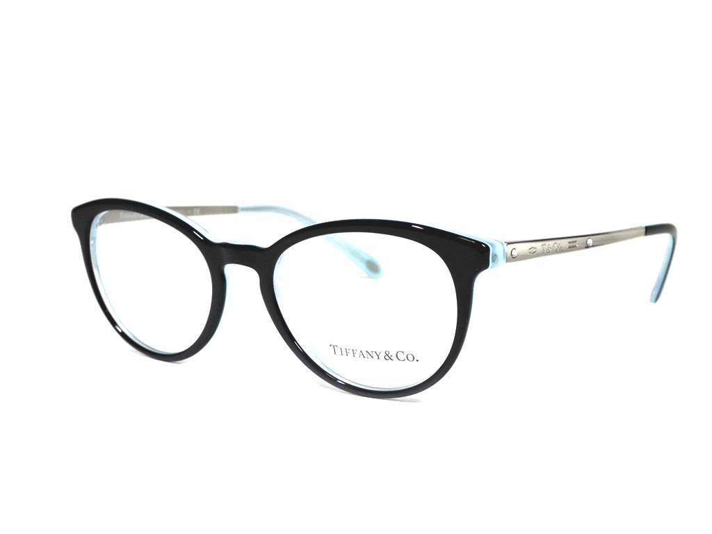 未使用 ティファニー メガネ 眼鏡 メガネフレーム 1837 ブラック フレーム めがね ラインストーン TIFFANY レディース だてメガネ 【中古】